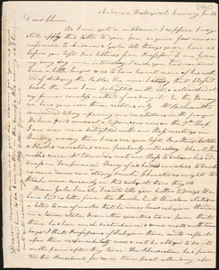 Letter from Charles M. Putnam, Andover, to Amos Augustus Phelps, June 23. [1827]
