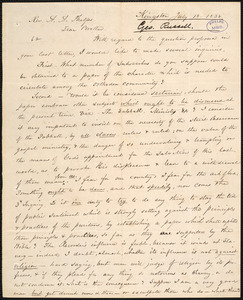 Letter from George Russell, Kingston, to Amos Augustus Phelps, July 18. 1838