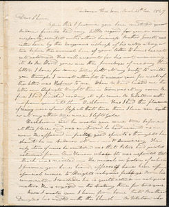 Letter from Charles M. Putnam, Andover, to Amos Augustus Phelps, March 25th 1827