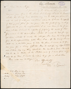 Letter from George Russell, Kingston, to Amos Augustus Phelps, December 31. 1838