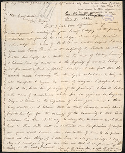 Letter from George Russell, [Kingston], to Amos Augustus Phelps, July 9. 1838