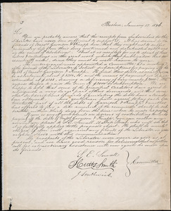 Letter from Joseph Southwick, Boston, to Amos Augustus Phelps, January 12. 1836
