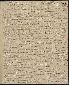 Letter from Elias Sharpe, Windham, to Amos Augustus Phelps, June 6th 1836