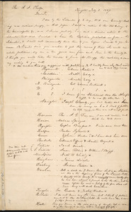Letter from George Russell, Kingston, to Amos Augustus Phelps and Henry Grafton Chapman, July 8. 1837