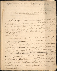 Am[erican] colonization & Af[rican] ed[ucation] societies by Amos Augustus Phelps, Hopkinton, July 10th 1831
