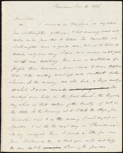 Letter from Amos Augustus Phelps, Prividence [R.I.], to Charlotte Phelps, Jan 16. 1836