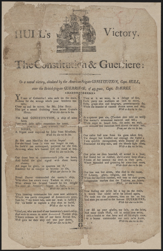 Hull's Victory. The Constitution & Guerriere