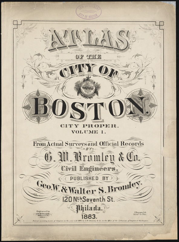 Atlas of the city of Boston : city proper