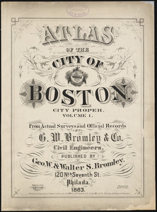 Atlas of the city of Boston : city proper : volume 1