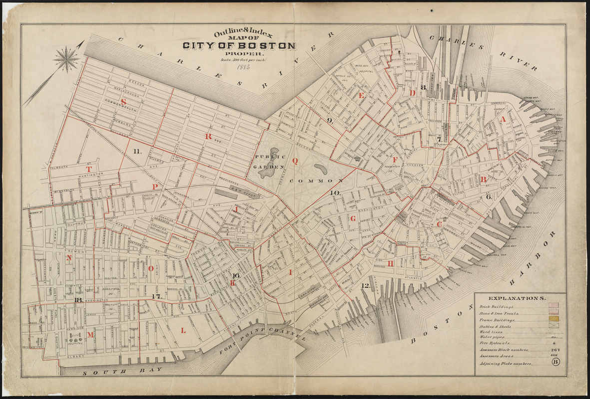 Outline index map of city of Boston proper Norman B Leventhal
