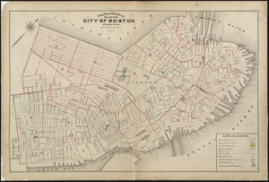 Outline & index map of city of Boston proper