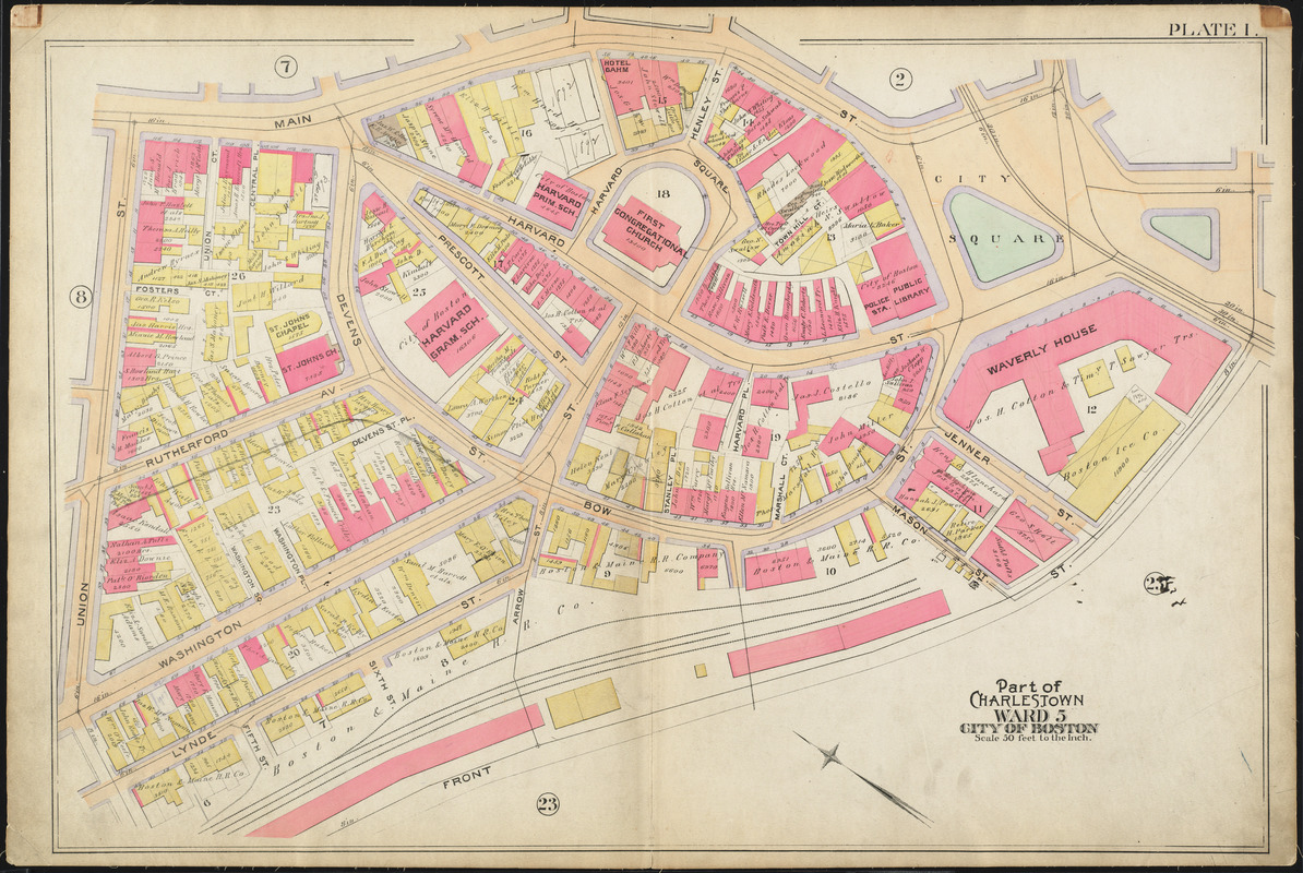 Atlas of the city of Boston : Charlestown