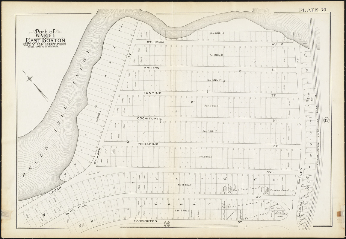 Atlas of the city of Boston : East Boston, Mass.