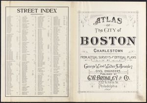 Atlas of the city of Boston, Charlestown ; street index