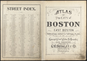 Atlas of the city of Boston, East Boston ; street index