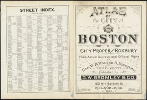 Atlas of the city of Boston : city proper and Roxbury ; street index