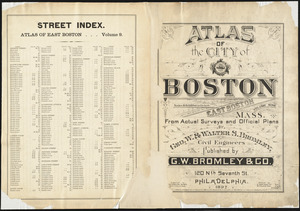 Atlas of the city of Boston : East Boston, Mass. : volume nine