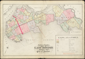 Outline & index map of East Boston, wards 1 & 2, city of Boston
