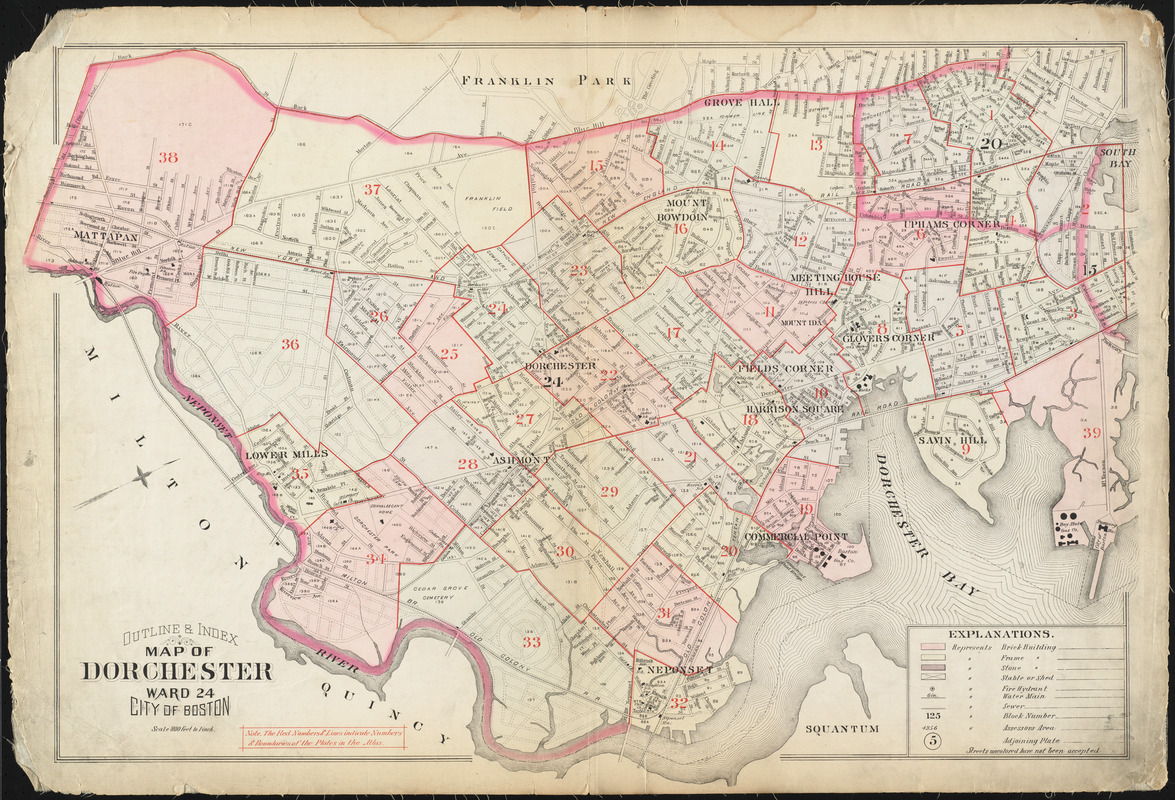 Outline & index map of Dorchester, ward 24, city of Boston
