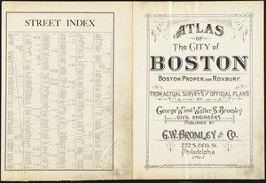 Atlas of the city of Boston : Boston proper and Roxbury