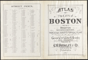 Atlas of the city of Boston, Brighton ; street index