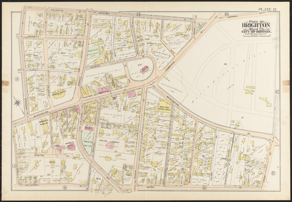 Atlas of the city of Boston Brighton Norman B Leventhal Map Center