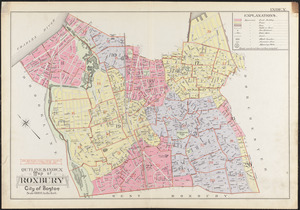 Outline & index map of Roxbury, city of Boston