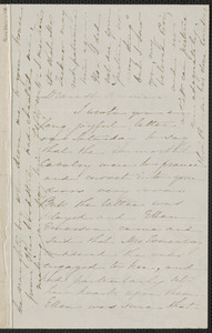 Sophia Hawthorne autograph letter signed to Annie Adams Fields. [Concord], approximately 25 February 1864