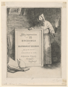"""""""Fifty Impressions of 10 Etchings"""" (Title-page to the series published by Marseille Holloway)"""