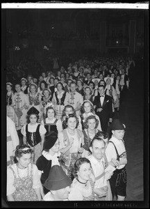 International Institute Costume Ball, large crowd at ball