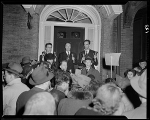 The Beacon Hill Bell Ringers play carols on Christmas Eve 1941
