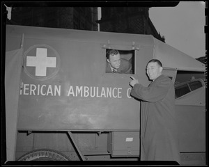 Clapper and Crowley with ambulance