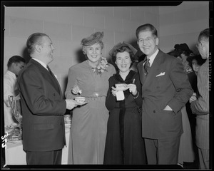 John C. Nicodemus with other at the Ad Club party