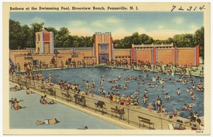 Bathers at the swimming pool, Riverview Beach, Pennsville, N. J.