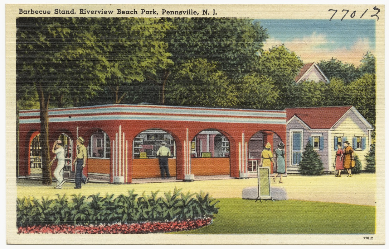 Barbecue stand, Riverview Beach Park, Pennsville, N. J.