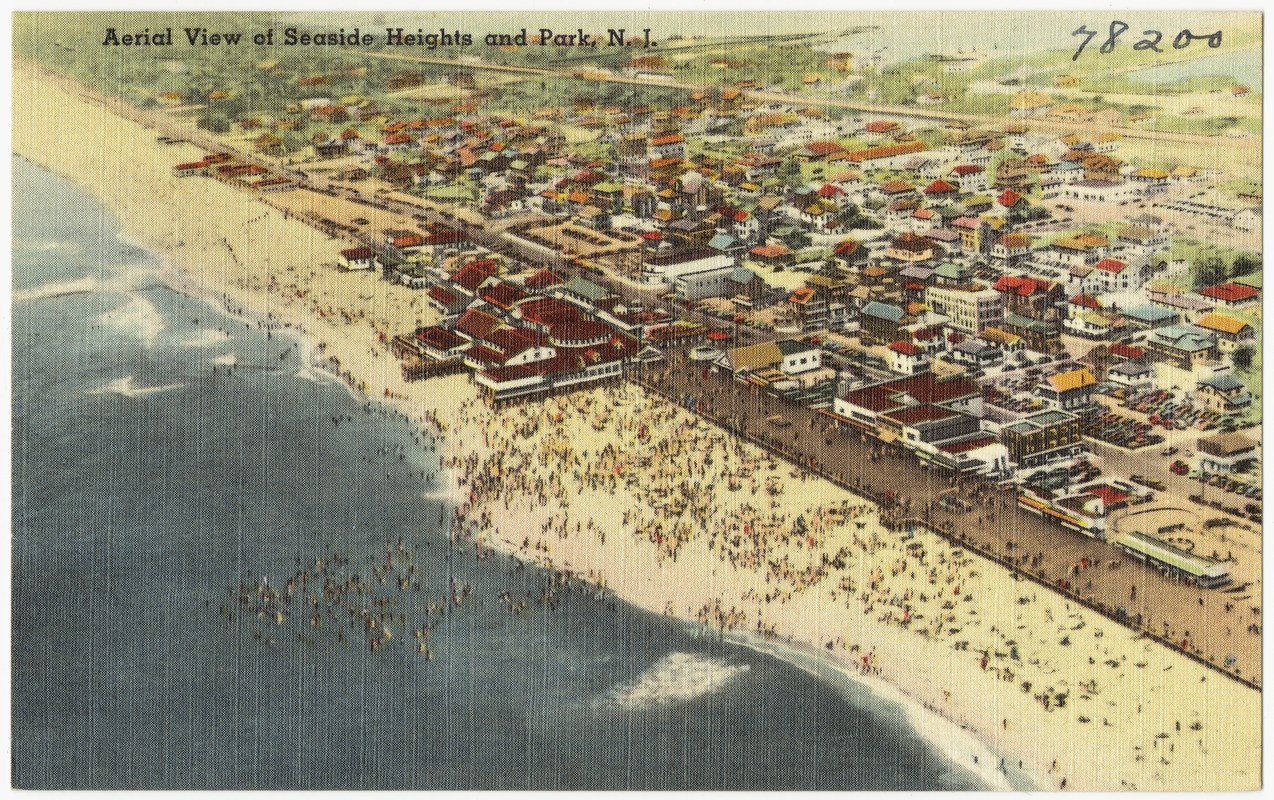 Aerial view of Seaside Heights and Park, N. J.