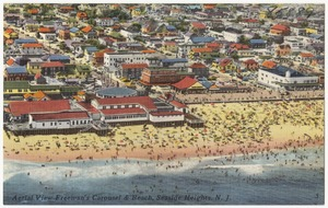 Aerial view Freeman's carousel & beach, Seaside Heights, N. J.