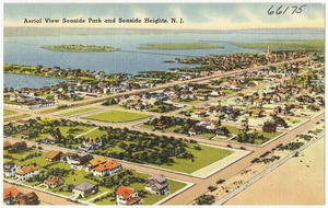Aerial view Seaside Park and Seaside Heights, N. J.