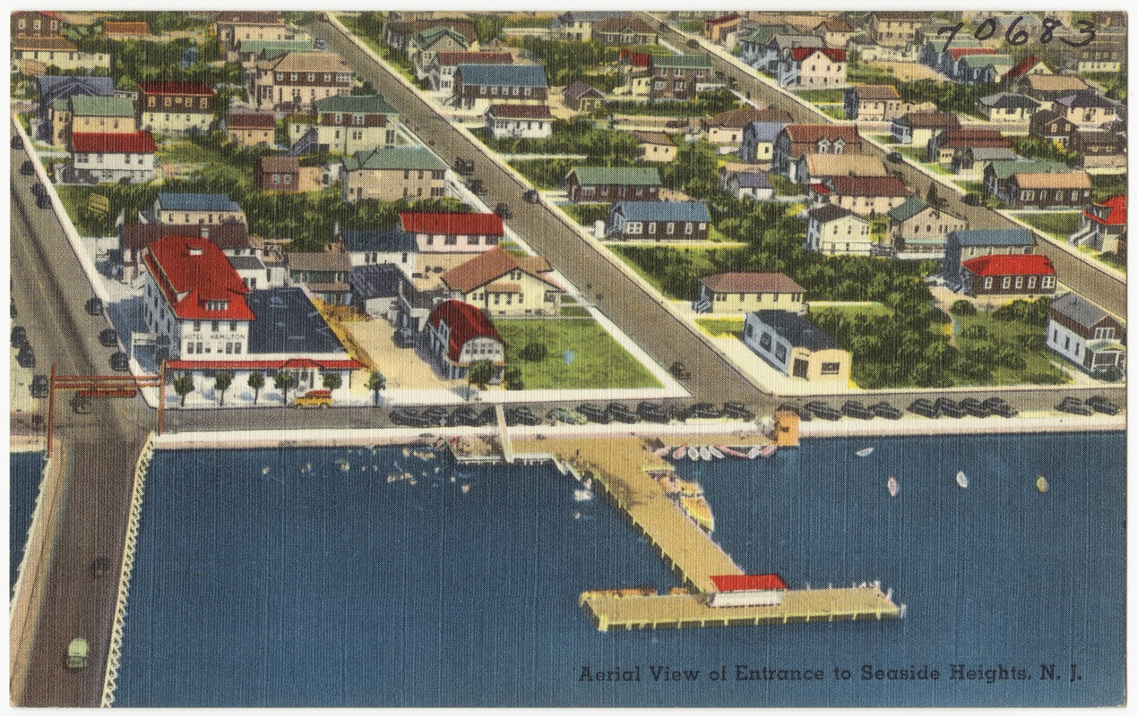 Aerial view of entrance to Seaside Heights, N. J.