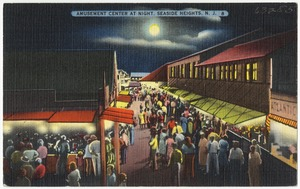 Amusement center at night, Seaside Heights, N. J.