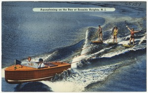 Aquaplaning on the Bay at Seaside Heights, N. J.