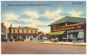 Business section and post office, Seaside Park, N. J.