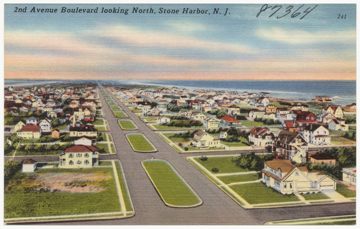 2nd Avenue Boulevard looking north, Stone Harbor, N. J.