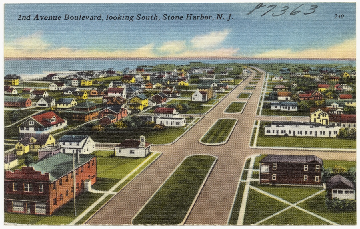 2nd Avenue Boulevard, looking south, Stone Harbor, N. J.