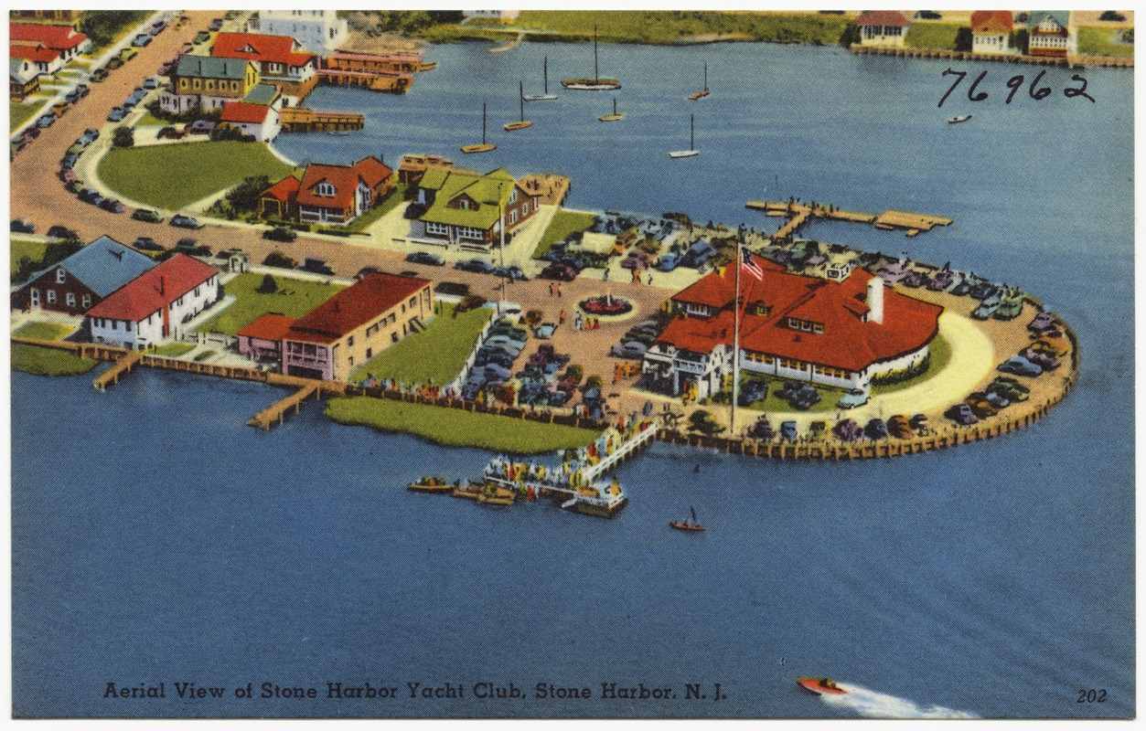 Aerial view of Stone Harbor Yacht Club, Stone Harbor, N. J.