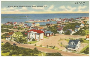 Aerial view, looking north, Stone Harbor, N. J.