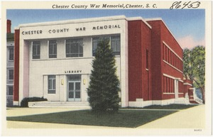 Chester County War Memorial, Chester, S. C.