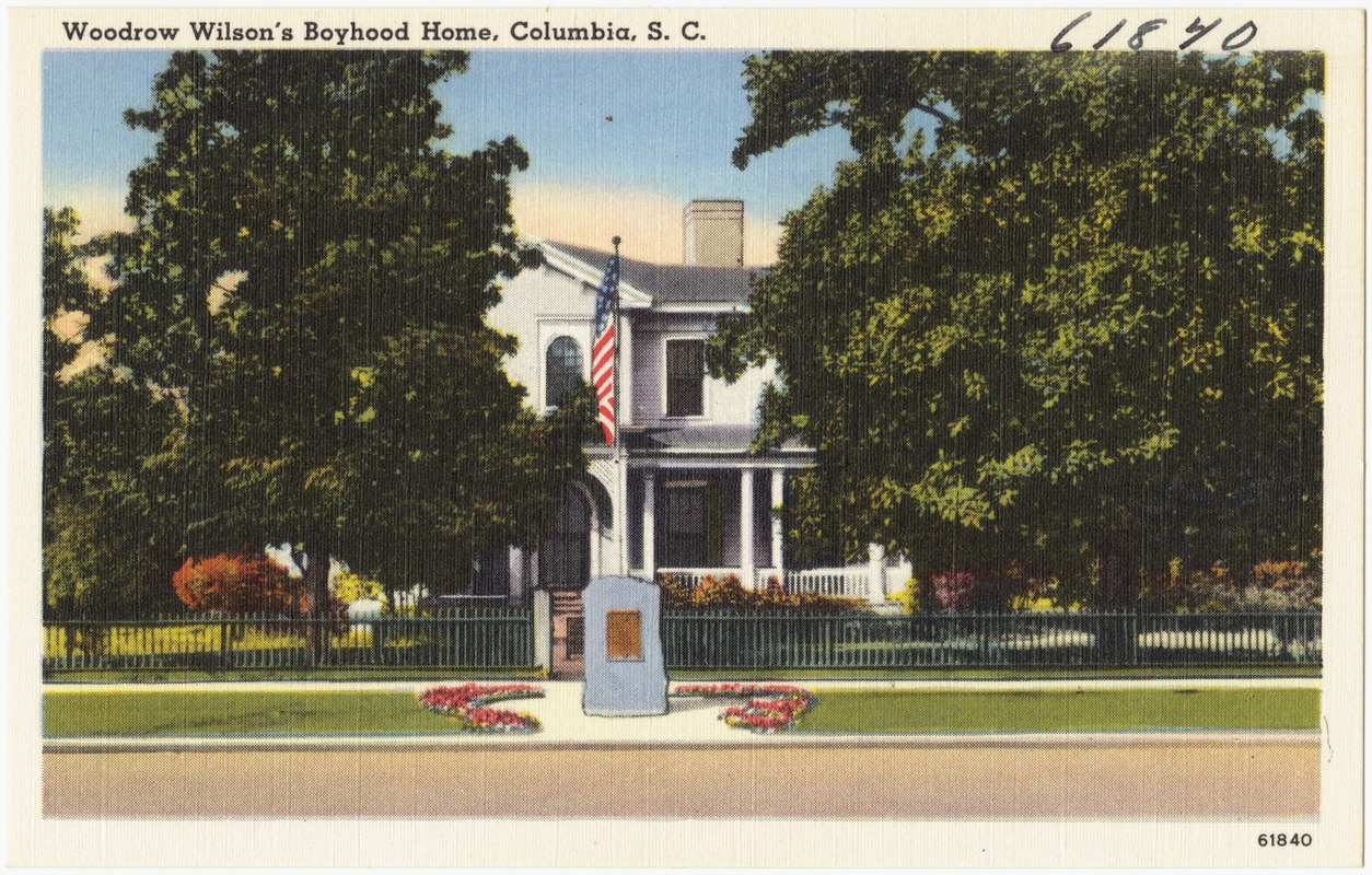 Woodrow Wilson's boyhood home, Columbia, S. C.
