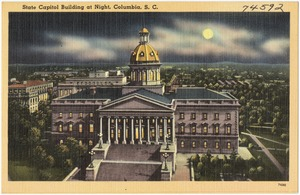 State Capitol Building at night, Columbia, S. C.