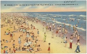 $5. Reward, if you can find me in this picture, Folly Beach, S. C., 10 miles from Charleston, S. C.